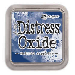 Distress Oxide -mustetyyny, sävy chipped sapphire