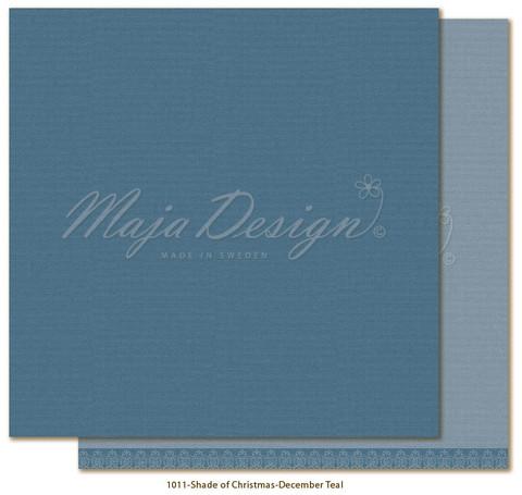 Maja Design Monochromes - Shades of Christmas skräppipaperi December Teal