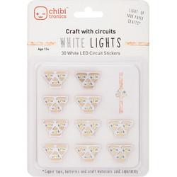 Chibitronics White LED Mega Pack, led-valopakkaus