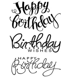 Woodware leimasinsetti Big Birthday Words