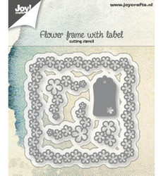 Joy! Crafts stanssisetti Flower frame with label