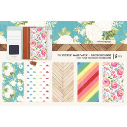 Webster's Pages Travel Notebook Sticker Wallpaper -tarrat, Colors Background