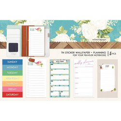 Webster's Pages Travel Notebook Sticker Wallpaper -tarrat, Colors Planning