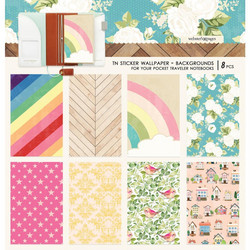 Webster's Pages Pocket Travel Notebook Sticker Wallpaper -tarrat, Colors Background