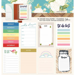 Webster's Pages Pocket Travel Notebook Sticker Wallpaper -tarrat, Colors Planning