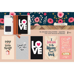Webster's Pages Travel Notebook Sticker Wallpaper -tarrat, Love Quotes