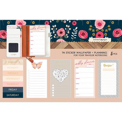 Webster's Pages Travel Notebook Sticker Wallpaper -tarrat, Love Planning