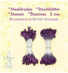 Leane Creatief Heteet, 2 mm. 160 kpl. Sävy violetti