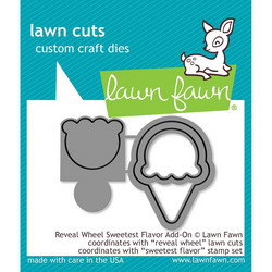 Lawn Fawn stanssisetti Reveal Wheel Sweetest Flavor Add-On