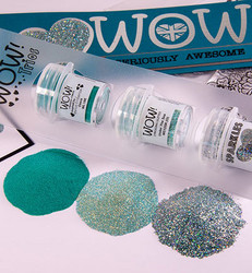Wow! Embossing Glitters  -kohojauheet, sävy Teal the Cows Come Home