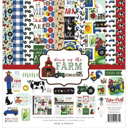 Echo Park Down On The Farm -paperipakkaus, 12