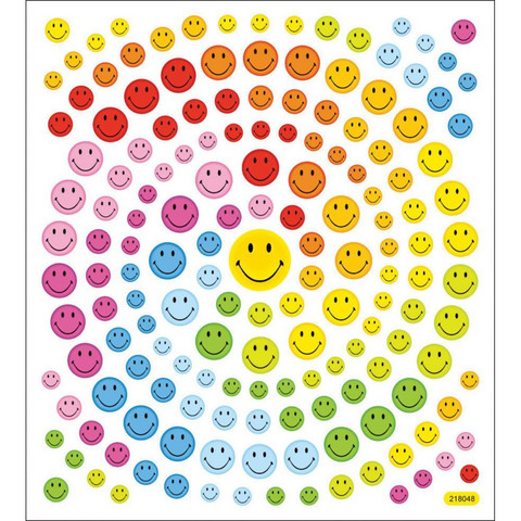 Sticker King tarrat Happy Face Glitter