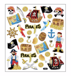 Sticker King tarrat Pirates Glitter