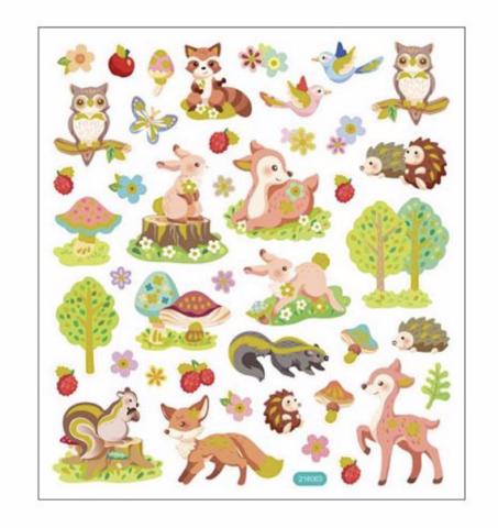 Sticker King tarrat Forest Critters Glitter
