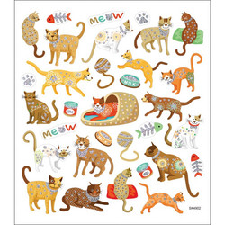 Sticker King tarrat Cats Meow Glitter