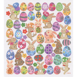 Sticker King tarrat Happy Bunnies Glitter