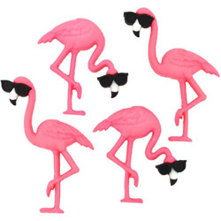 Dress It Up napit Think Pink Flamingos