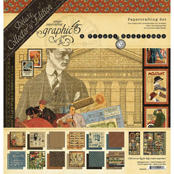 Graphic 45 Deluxe Collector's Edition  -paperipakkaus A Proper Gentleman, 12