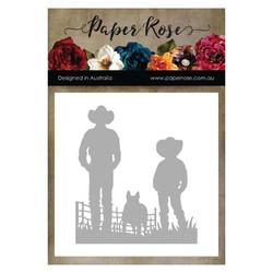 Paper Rose -stanssi Farmer & Boy
