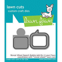 Lawn Fawn stanssisetti Reveal Wheel Speech Bubble Add-On
