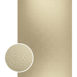 Couture Creations Mirror Foil Board -kartonki Gold Damask Matte, 10 kpl