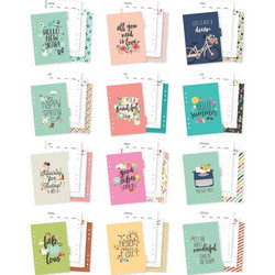 Carpe Diem Seasons Double-Sided A5 Planner Inserts -sivut, Monthly undated