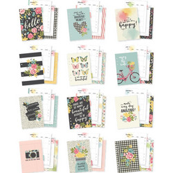Carpe Diem Hello Double-Sided A5 Planner Inserts -sivut, Monthly undated