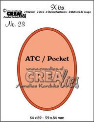 Crealies X-tra no. 23 ATC Oval -stanssisetti