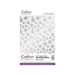 Crafter's Companion Snowflake Vellum Silver, kuultopaperi, 15 arkkia