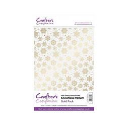 Crafter's Companion Snowflake Vellum Gold, kuultopaperi, 15 arkkia