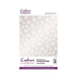Crafter's Companion Snowflake asetaattikalvo, 15 arkkia