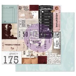 Prima Midnight Garden -skräppipaperi Traveling Tickets