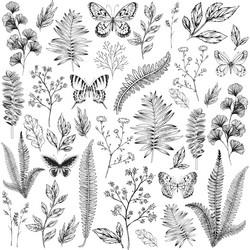 Kaisercraft asetaattiarkki Flora & Fauna