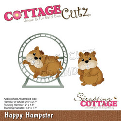 CottageCutz stanssisetti Happy Hamster