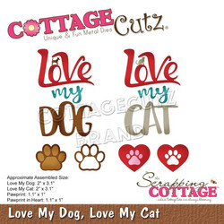 CottageCutz stanssi Love My Dog, Love My Cat