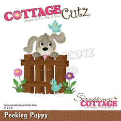CottageCutz stanssi Peeking Puppy