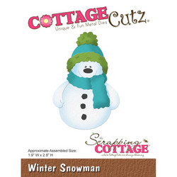 CottageCutz stanssi Winter Snowman