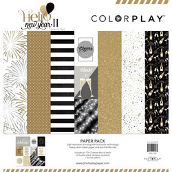 ColorPlay Hello New Year II -paperipakkaus, 12