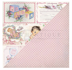 Authentique Swaddle Girl skräppipaperi Vintage Cut-Aparts