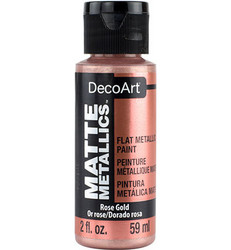 DecoArt Matte Metallics -maali, sävy Rose Gold