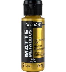DecoArt Matte Metallics -maali, sävy Gold