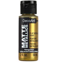 DecoArt Matte Metallics -maali, sävy Vintage Brass
