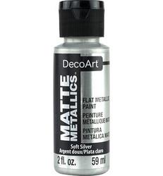 DecoArt Matte Metallics -maali, sävy Soft Silver