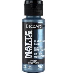 DecoArt Matte Metallics -maali, sävy Pewter