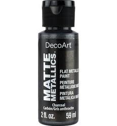 DecoArt Matte Metallics -maali, sävy Charcoal