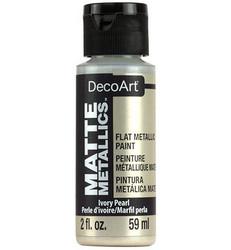 DecoArt Matte Metallics -maali, sävy Ivory Pearl