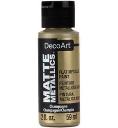DecoArt Matte Metallics -maali, sävy Champagne