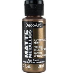 DecoArt Matte Metallics -maali, sävy Aged Bronze