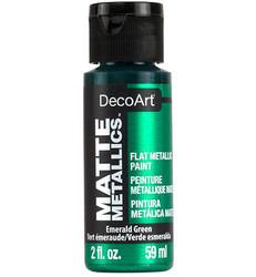 DecoArt Matte Metallics -maali, sävy Emerald Green