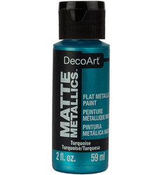 DecoArt Matte Metallics -maali, sävy Turquoise